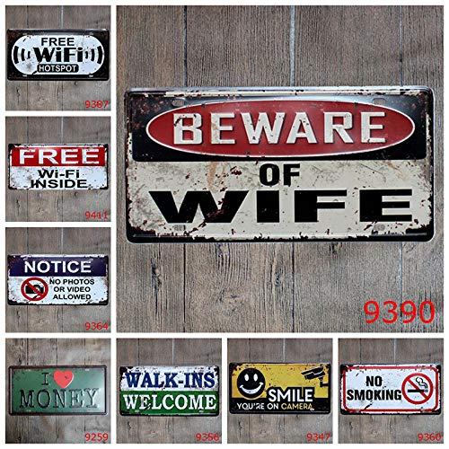 15 x 30 cm-SO Happy Drawihi Nostalgic Metal Segno Tin Ferro Pittura Bar Stile retr/ò Europei e Americani Ferro Wall Art Decor Immagini per Bar Regalo KTV Cafe Home Pub
