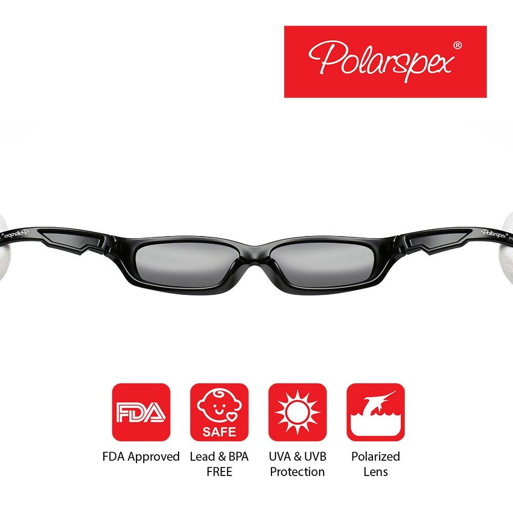 Polarspex Flexible Kids Toddler Boys Sports Wrap Polarized Sunglasses BPA Free