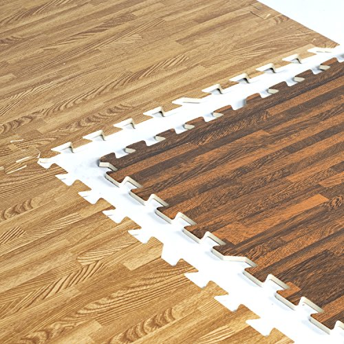 Find a Match to Your Existing Hardwood Floors - Put this safety flooring overtop