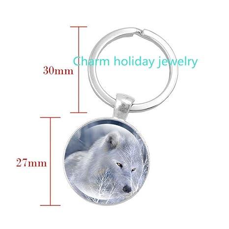 Amazon.com: Wolf llavero, regalos de lobo, lobo llavero ...