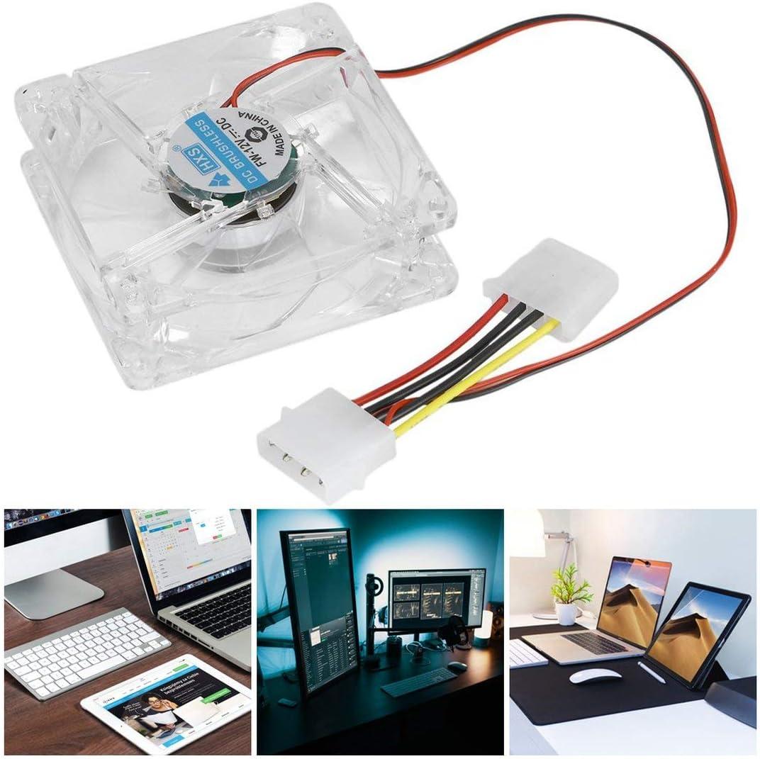 vbncvbfghfgh Computer PC Fan 80mm LED mit 8025 Silent-L/üfter 12V LED Leucht Chass Computer-Geh/äuse-L/üfter Mod einfach installiert
