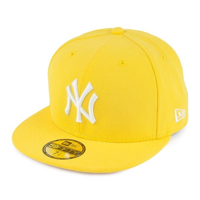 Gorra de béisbol 59FIFTY New York Yankees de New Era - Amarillo  Amazon.es   Ropa y accesorios 84625a246f4