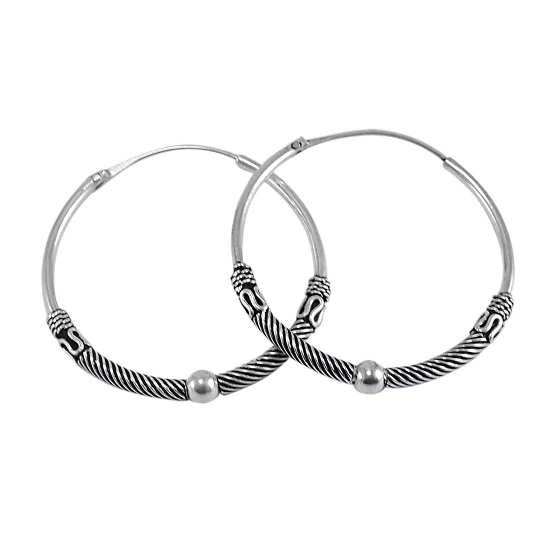 Saamarth Impex Hoop 925 Sterling Silver Earring PG-127366