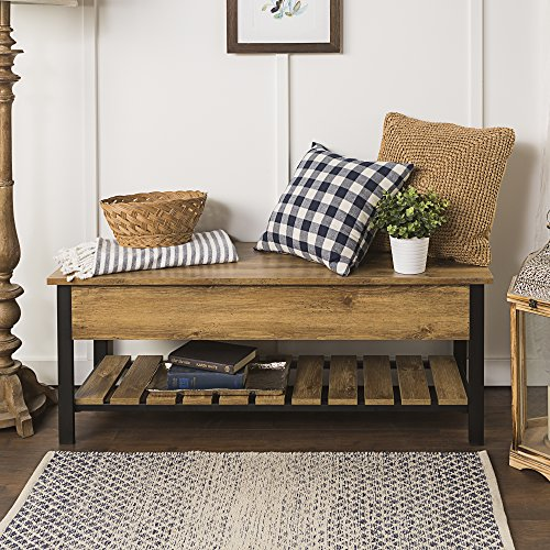WE Furniture  Open-Top Storage Bench, Barnwood