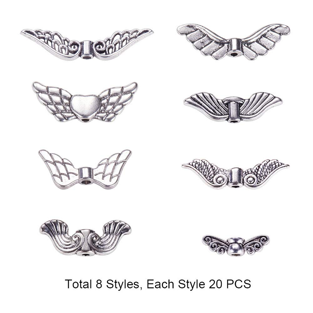 20pcsFashion design style hollow out the wings of the bird//angel wings connector
