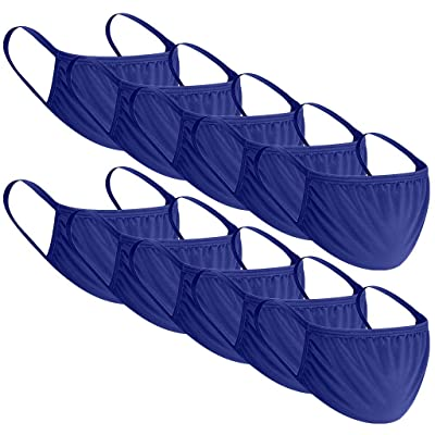 Obershein 10PC Face Cover Anti-dust Reusable Mouth Cloth Mouth Cover for Man and Woman Blue: Clothing
