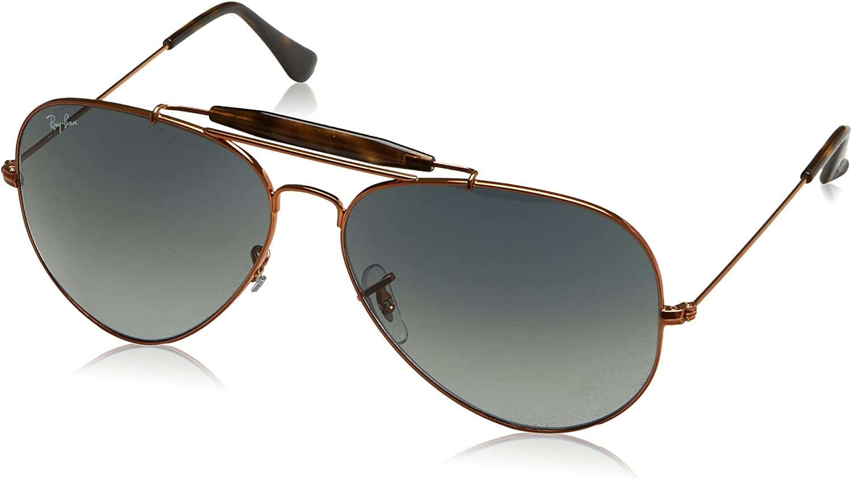 RAY-BAN Outdoorsman II Gafas de sol, Shiny Bronze, 62 para Hombre