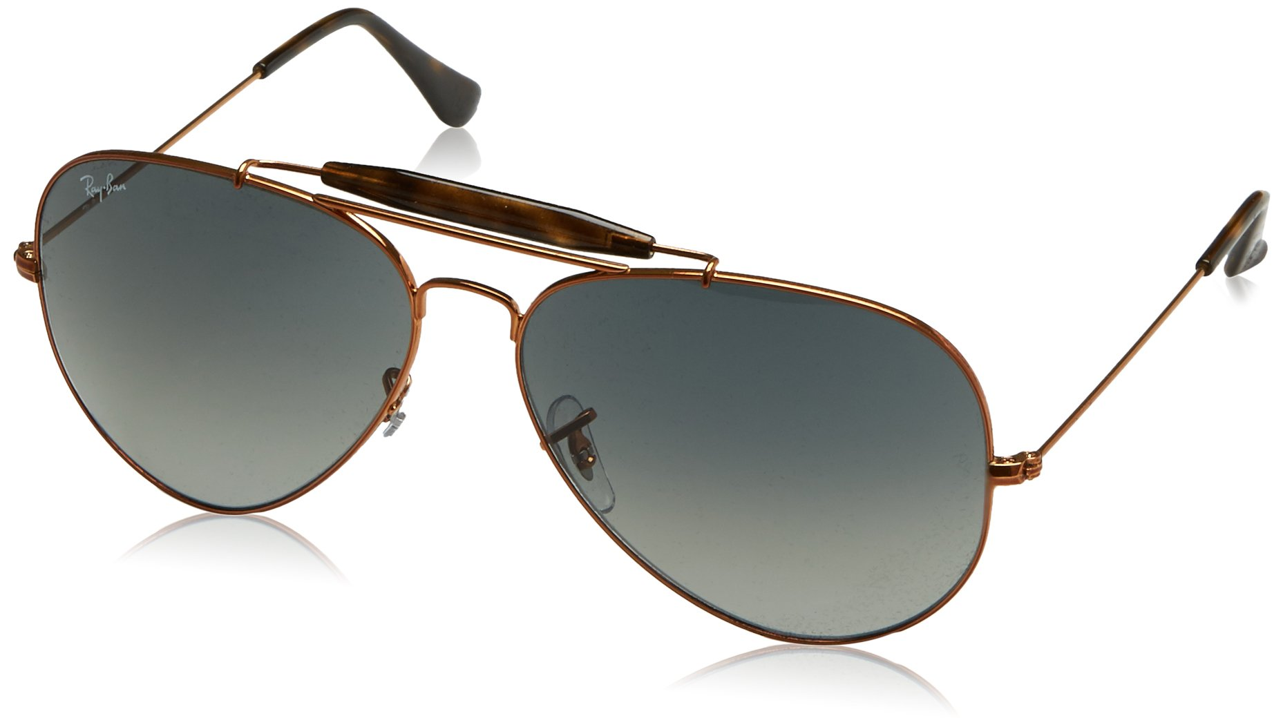Ray-Ban Men's Outdoorsman Ii Aviator Sunglasses, Shiny Bronze, 62 mm by Ray-Ban (Image #1)