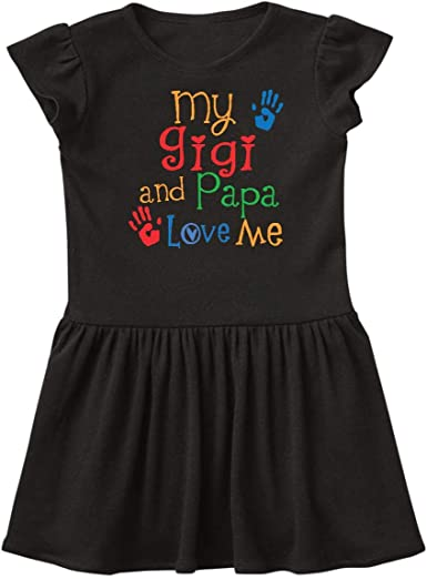 inktastic Mimi and Papa Love Me Baby Girl Infant Tutu Bodysuit