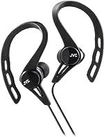 JVC HAECX20B Sports Clip Inner Ear Headphones, Black