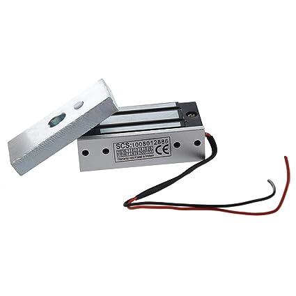 SODIAL(R)60kg 130LBs Fuerza de retencion Electromagnetico Cerradura por Puerta Acceso Control Sistema