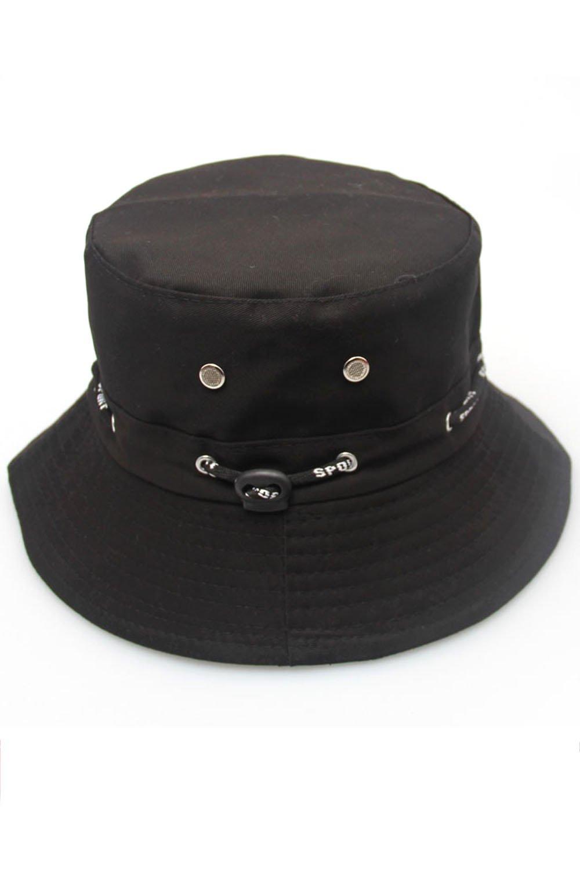 Elisona-Unisex Adults Canvas Sun Protection Bucket Hat Cap Beige