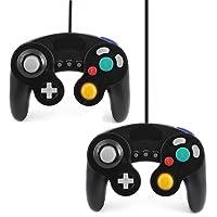 QUMOX 2 X black wired classic controller joypad gamepad for nintendo gamecube gc & wii (Turbo Slow Feature)