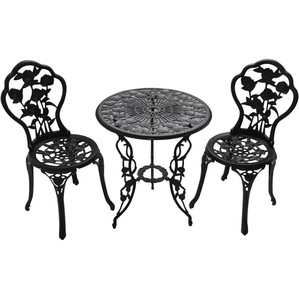 Better Homes and Gardens Rose 3-Piece Bistro Set 2 Chairs Furniture Table Iron