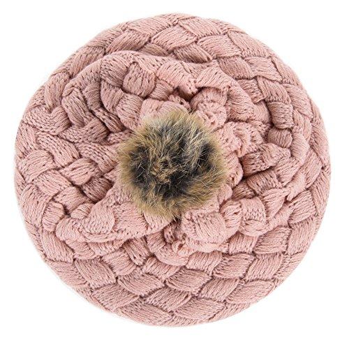 Diamondo New Kid Hat Baby Handmade Knit Crochet Baby Hat Cute Warm Beanie (Pink) -