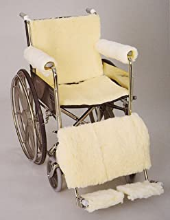 DSS SkiL Care Synthetic Sheepskin Wheelchair Accessories (Footrest Pads)