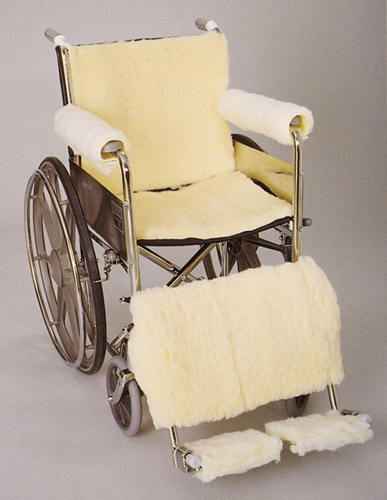 DSS SkiL-Care Synthetic Sheepskin Wheelchair Accessories (Footrest Pads)
