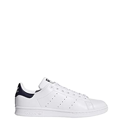 huge discount 1bad7 15b3b adidas Men s Originals Stan Smith Sneaker, White White Dark Blue, ...
