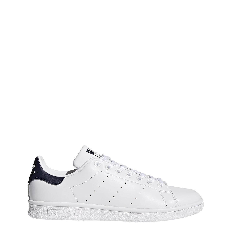 adidas Originals Men's Stan Smith Running Shoe, WhiteDark Blue, ((10 M US)