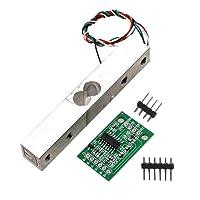 Homyl Wägesensor, Kleinbereich Wägedrucksensor Mit HX711AD Modul Wägezelle - Silber + Grün 1kg