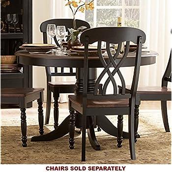 homelegance ohana 48   round dining table     amazon com   homelegance ohana 48   round dining table black   tables  rh   amazon com