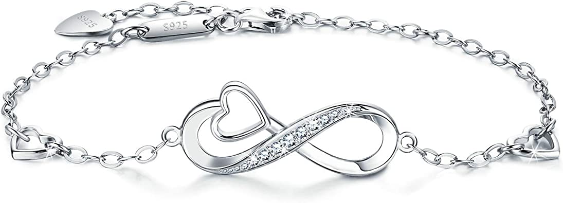 bracelet femme argent infini