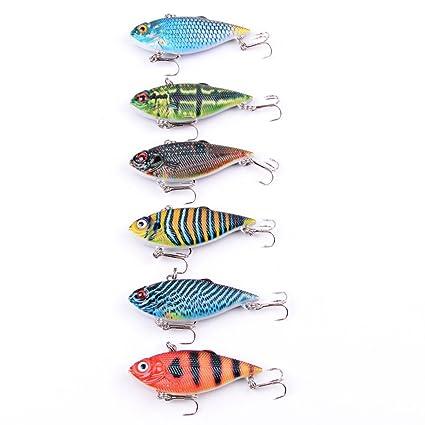 Metal Hard Lure 6pcs Fishing Lure Spoon Lure Set of 6pcs Fishing Lure Bright Pieces Metal Pieces