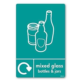 Papelera de reciclaje antiestillante botellas de vidrio reciclaje ahora navidello wallkraft 10 x 15 cm