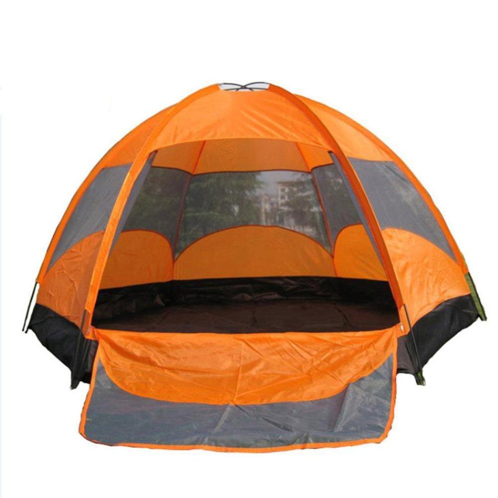 VATHJ Tente de Camping imperméable à l'eau extérieure 8 Personnes Grande Tente en Caoutchouc laminé Double