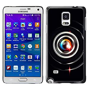 LASTONE PHONE CASE / Slim Protector Hard Shell Cover Case for Samsung Galaxy Note 4 SM-N910F SM-N910K SM-N910C SM-N910W8 SM-N910U SM-N910 / Colorful Lens Flare Close Up