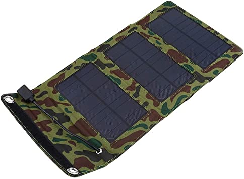 Monocrystalline Silicon Outdoor Ultra-Thin Compact Solar Panel Phone Cellphone Power Bank Charger for Camping Hiking Travel 2.5W//5V Blusea Portable Solar Charger with USB Port