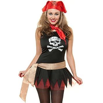 Ladies Sexy PIRATA disfraz Halloween - para despedida Sexy negro ...