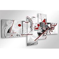 Quadro Moderno KANDINSKY MODERN - cm 160x70 Stampa su Tela Canvas Arredamento Arte Astratto XXL Arredo per Soggiorno Salotto Camera da letto Cucina Ufficio Bar Ristorante