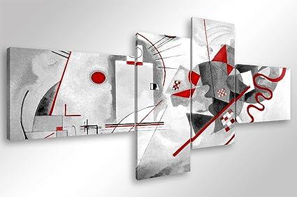 Quadro Moderno KANDINSKY MODERN - cm 160x70 Stampa su Tela Canvas ...