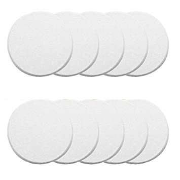 Pack Of 10 Door Knob Self Adhesive Protector 3u0026quot; Drywall Wall Shield  Round White Handle