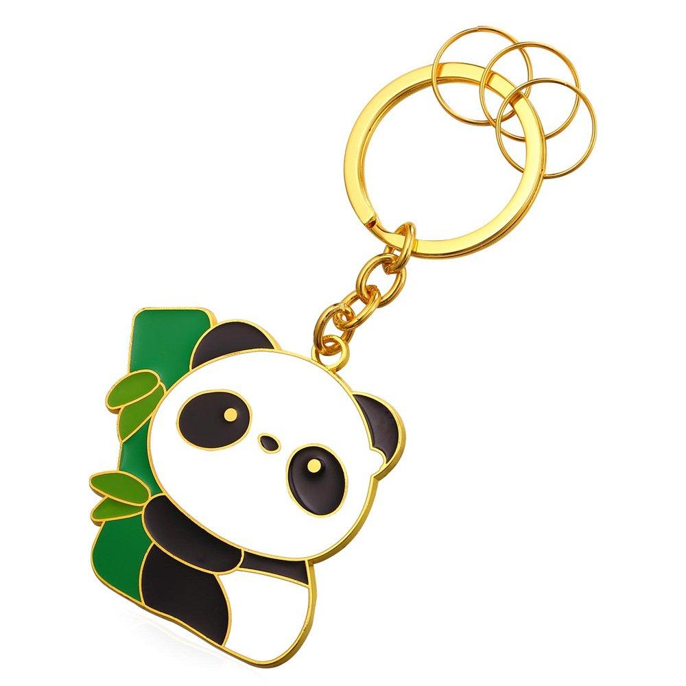 Panda Keytag Metal Alloy Key Ring Key Pendant Keyrings For Men U7 Jewelry K2309K
