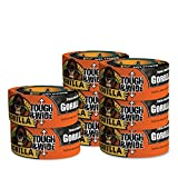 Gorilla Tape, Black Tough & Wide Duct Tape, 2.88'' x 30 yd, Black, (Pack of 8)