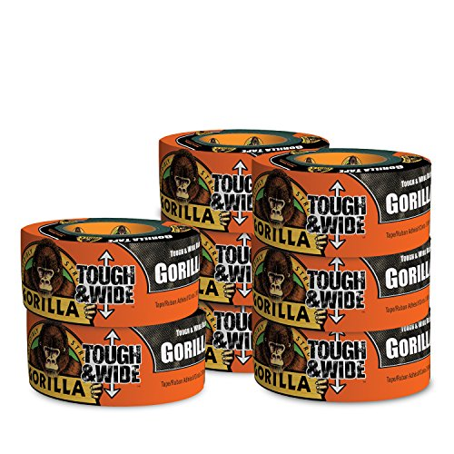 Gorilla Tape, Black Tough & Wide Duct Tape, 2.88'' x 30 yd, Black, (Pack of 8) by Gorilla