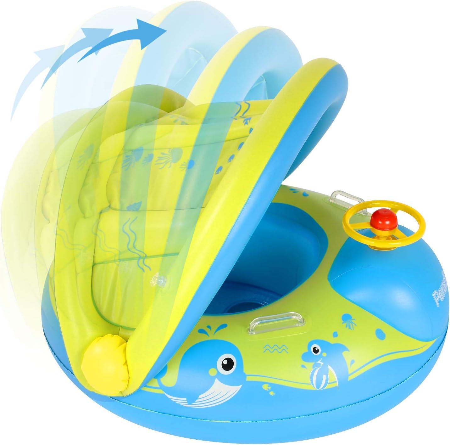Peradix Flotador Bebé con Asiento, Flotador para Bebe Piscina ...