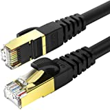 CAT 8 Ethernet Cable 50 Feet Fastest CAT 8 Round Network Internet Ethernet LAN Cable,High Speed 40Gbps 2000Mhz SFTP LAN…