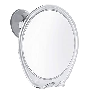 Fogless Shower Mirror with Razor Hook for A Perfect No Fog Shaving, 360 Degree Rotating for Flexible Mirrors Viewing, Strong Power Lock Suction Cup Will Not Fall, Ideal for Home and Traveling.