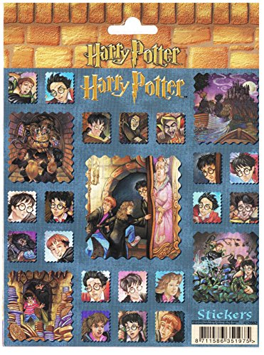 (Harry Potter Sorcerer's (Philosopher's) Stone Character Stickers on Castle Background)
