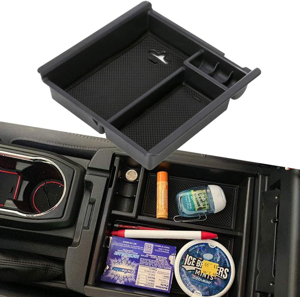 Storage Box Center Console Organizer Armrest Tray For Toyota Tacoma 2016-2018