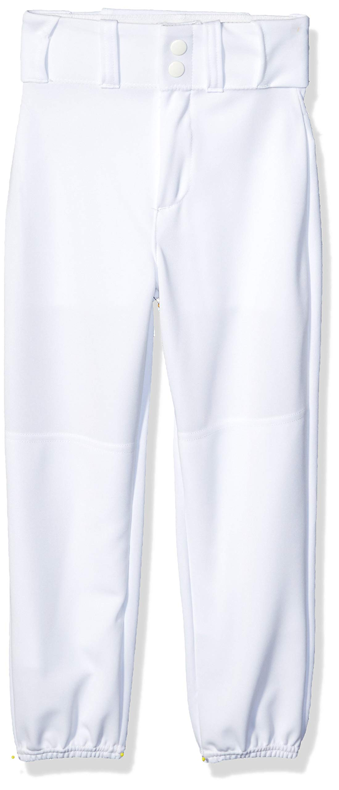 Alleson Ahtletic Boys Youth Elastic Bottom Baseball Pants, White, Large by Alleson Ahtletic
