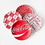 """Coca-cola """"Around the World"""" Picnic / Dinner Plate, 9 Inch Melamine, Set of 4 Styles, Red & White offers"""