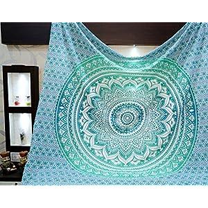 Aakriti Gallery Tapestry Regina Verde Ombre Hippie Arazzo Mandala Bohemian Psichedelico intricato Indiano copriletto 233… 2 spesavip
