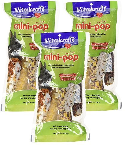 Vitakraft Mini-Pop Small Animal Indian Corn Treats - 3 (Vitakraft Small Animal)
