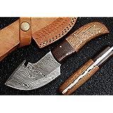 Handmade Damascus Steel Hunting Knife - Small Skinning Knife GladiatorsGuild 64