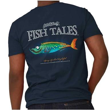 70d18d816aa Gill McFinn Spiny Speckled Psycho Fish Funny Fishing V-Neck T Shirt Navy