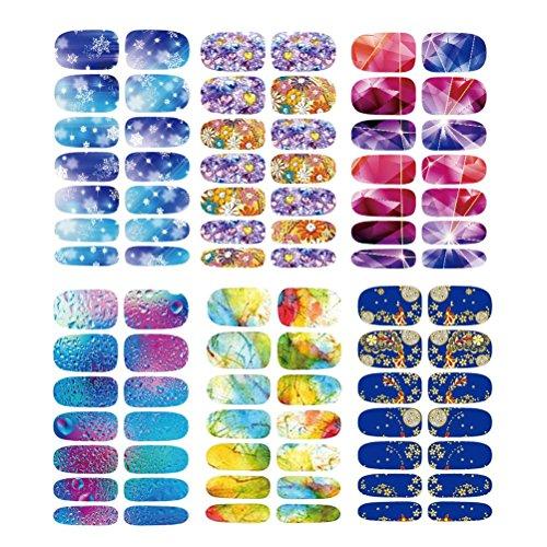 rt Stickers Blue Ocean Nail Wraps Sticker Watermark Fingernails Decals ()
